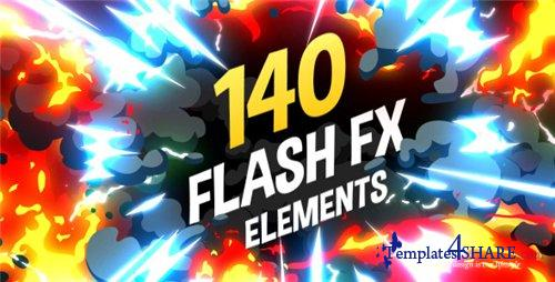 140 Flash FX Elements - After Effects Project (Videohive)