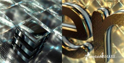 Gold & Black Crystallized Glass Logo Reveal - After Effects Project (Videohive)