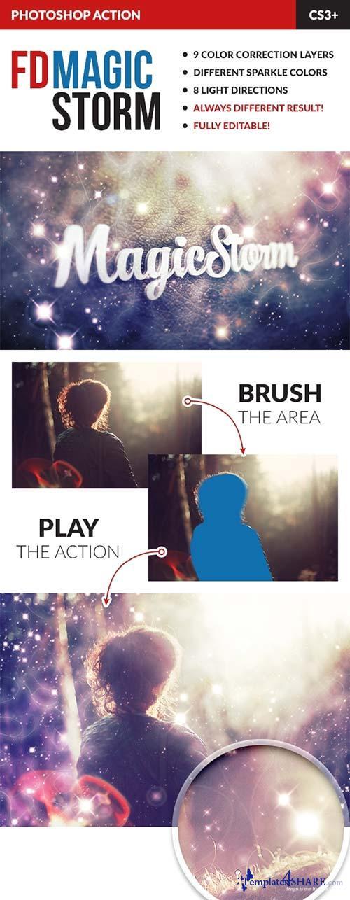 GraphicRiver Magic Storm Photoshop Action