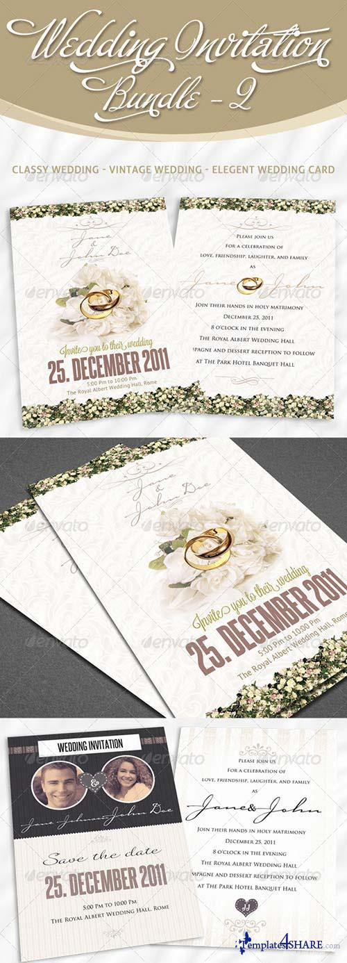 GraphicRiver Wedding Invitation Bundle - Pack 2