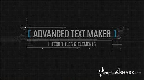 Advanced Text Maker - After Effects Project (Videohive)