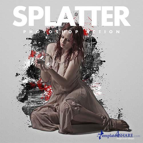 GraphicRiver Splatter Photoshop Actions