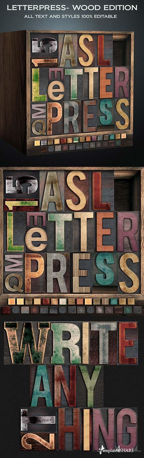 GraphicRiver Letterpress - Wood Edition