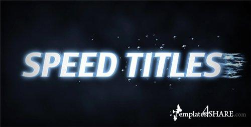 Speed Titles - After Effects Project (Videohive)