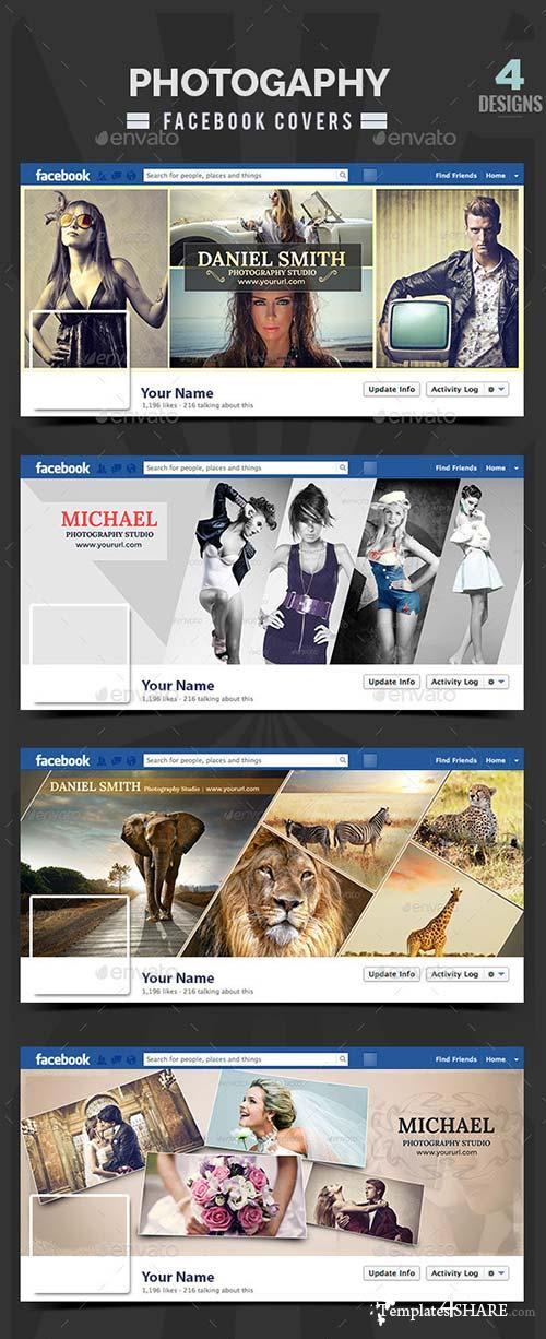 GraphicRiver Photography Facebook Covers - 4 Designs