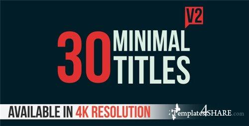 30 Minimal Titles V2 - After Effects Project (Videohive)