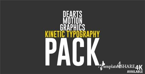 Kinetic Typo Pack - After Effects Project (Videohive)