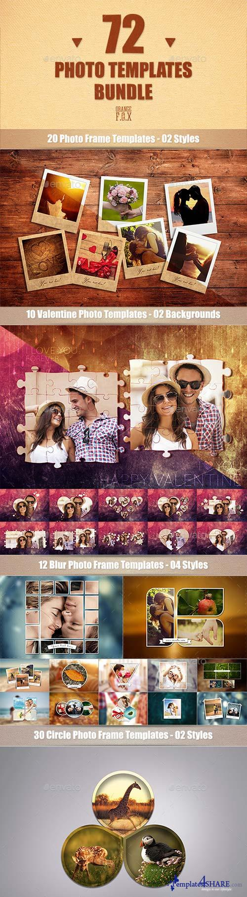 GraphicRiver 72 Photo Templates Bundle