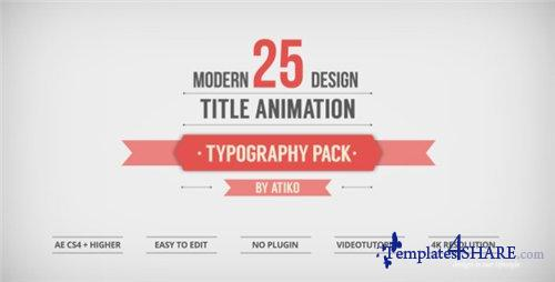 25 Design Titles Animation - Typography Pack - - After Effects Project (Videohive)