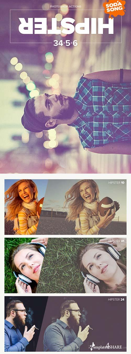 GraphicRiver Hipster - Soft Faded Photoshop Action