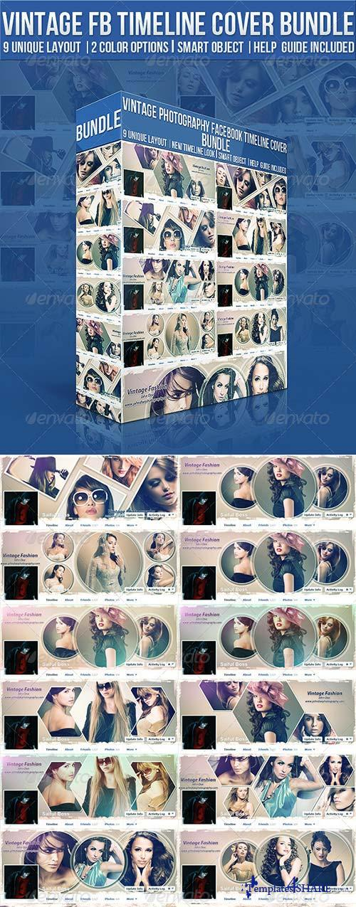 GraphicRiver Vintage Photography Facebook Timeline Cover Bundle