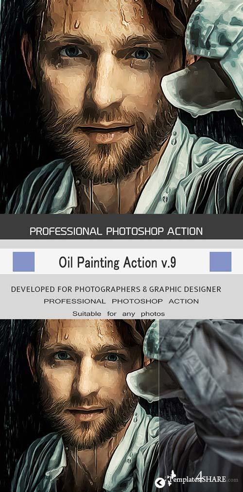 GraphicRiver Oil Painting Action v.9