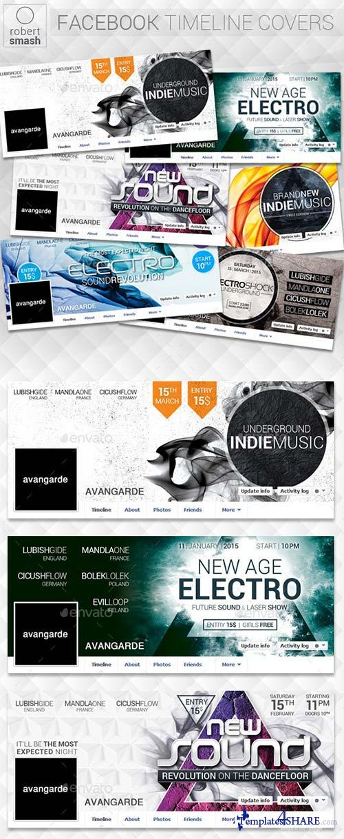 GraphicRiver 6 Music Event Facebook Timeline Covers