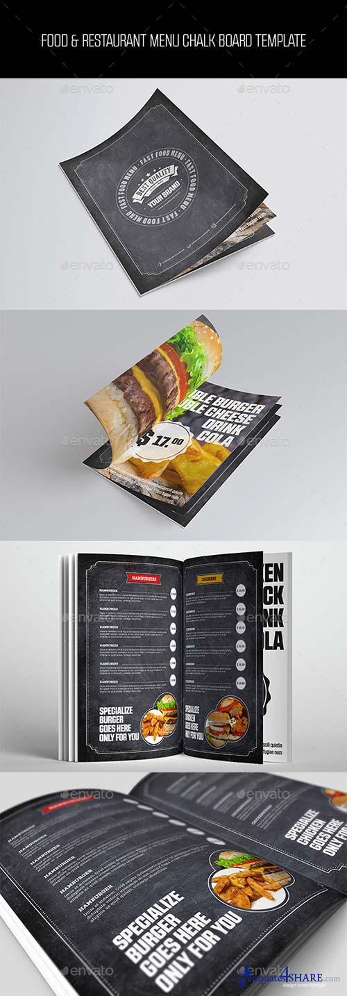 GraphicRiver Food & Restaurant Menu Chalk Board Template