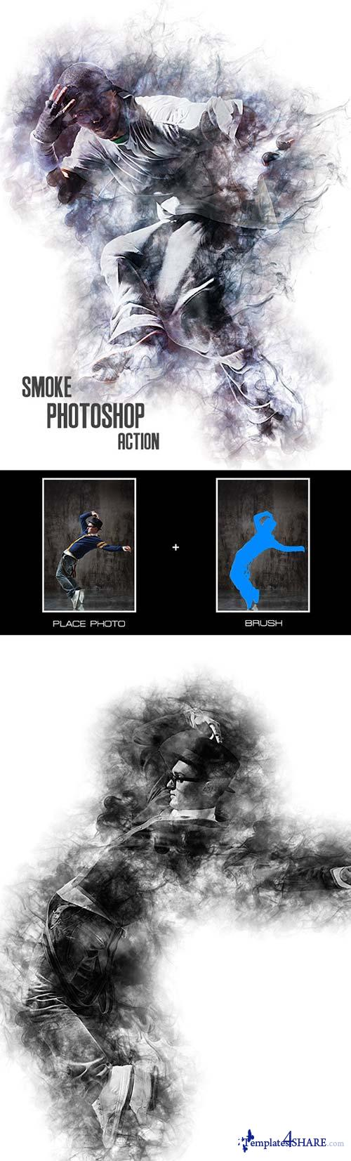 GraphicRiver Smoke - Photoshop Action