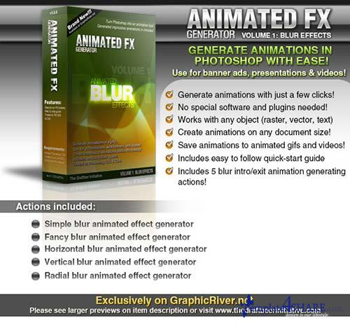 GraphicRiver Animated FX Generator vol. 1: Animated Blur FX
