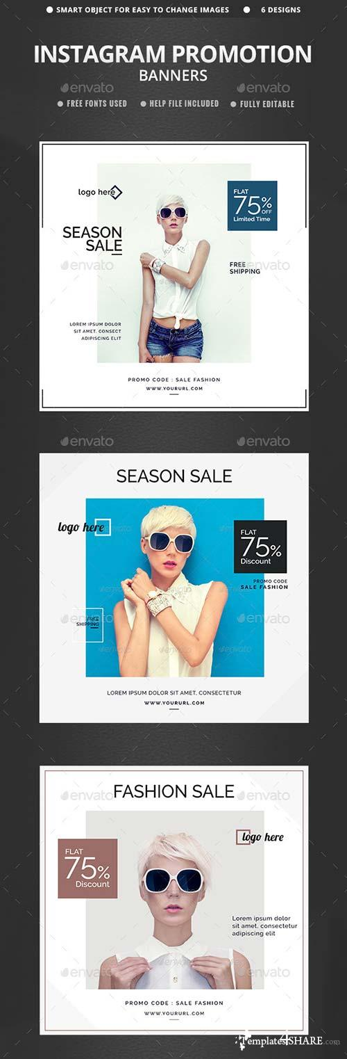 GraphicRiver Sales Instagram Banners - 6 Templates