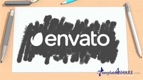Cartoon Sketch Logo Reveal - After Effects Project (Videohive)
