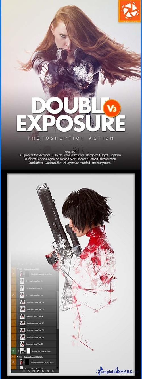 GraphicRiver Double Exposure 3 Photoshop Action