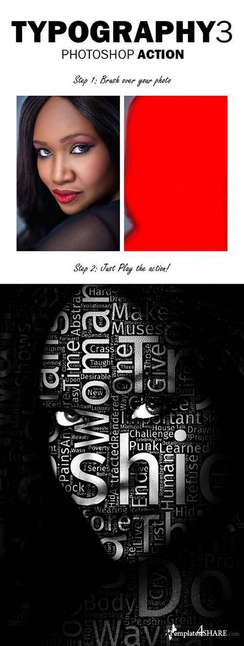 GraphicRiver Typography 3 Photoshop Action