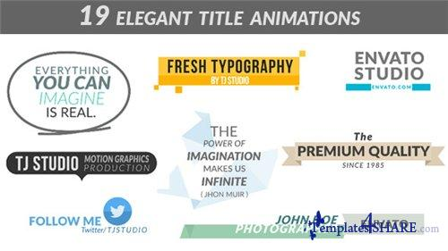 19 Elegant Title Animations - After Effects Project (Videohive)