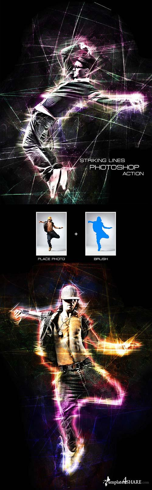 GraphicRiver Striking Lines - Photoshop Action