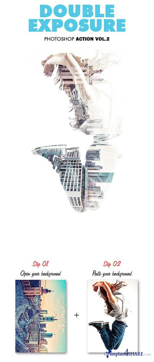 GraphicRiver Double Exposure Vol.2 - Photoshop Action