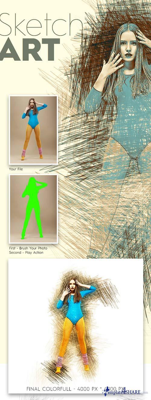 GraphicRiver Sketch Art Photoshop Action