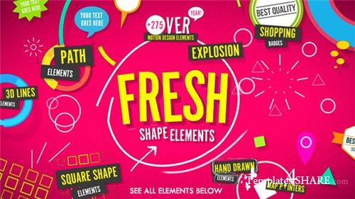 Shape Elements Fresh - After Effects Project (Videohive