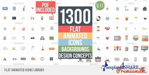 Flat Animated Icons Library - After Effects Project (Videohive)