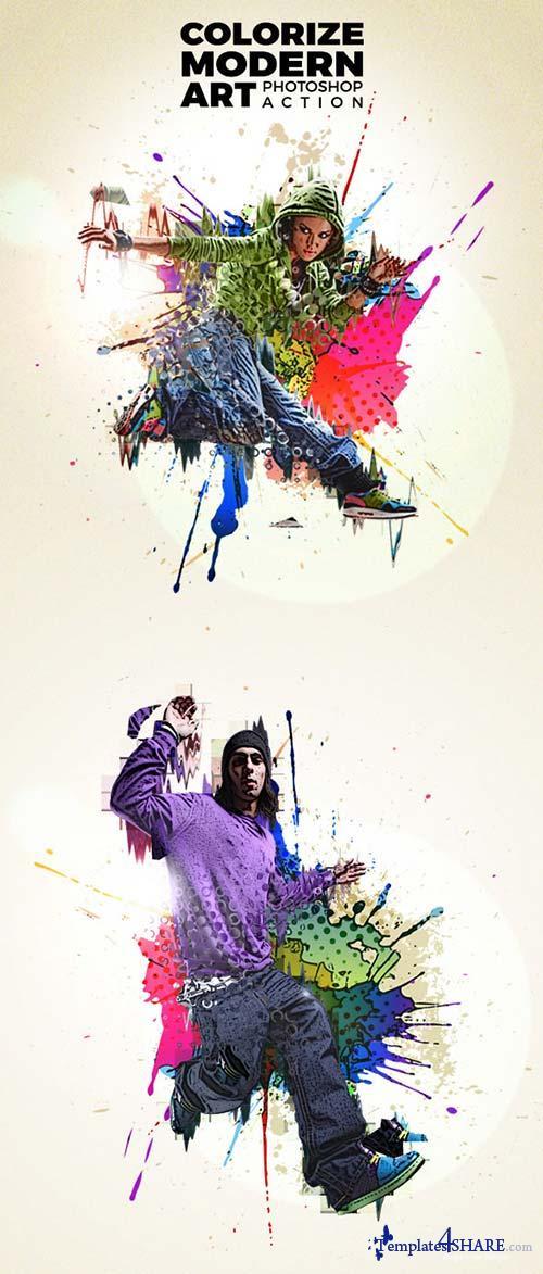 GraphicRiver Colorize Modern Art Photoshop Action