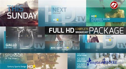 HDtv Complete Broadcast Package - After Effects Project (Videohive)