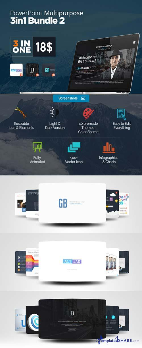 GraphicRiver Power Point 3 In One Bundle 2