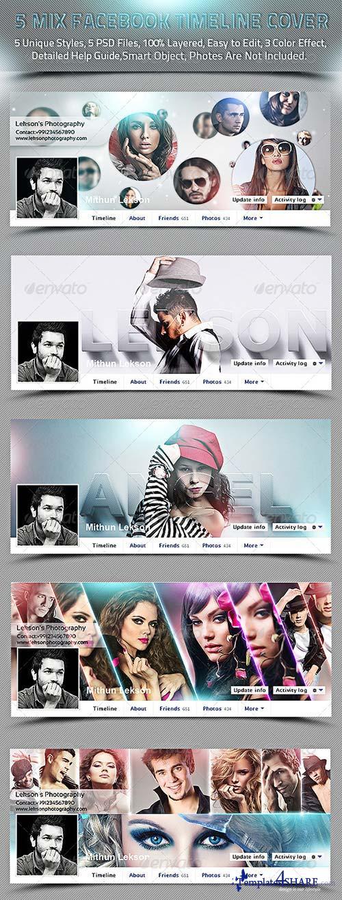 GraphicRiver 5 Mix Facebook Timeline Cover