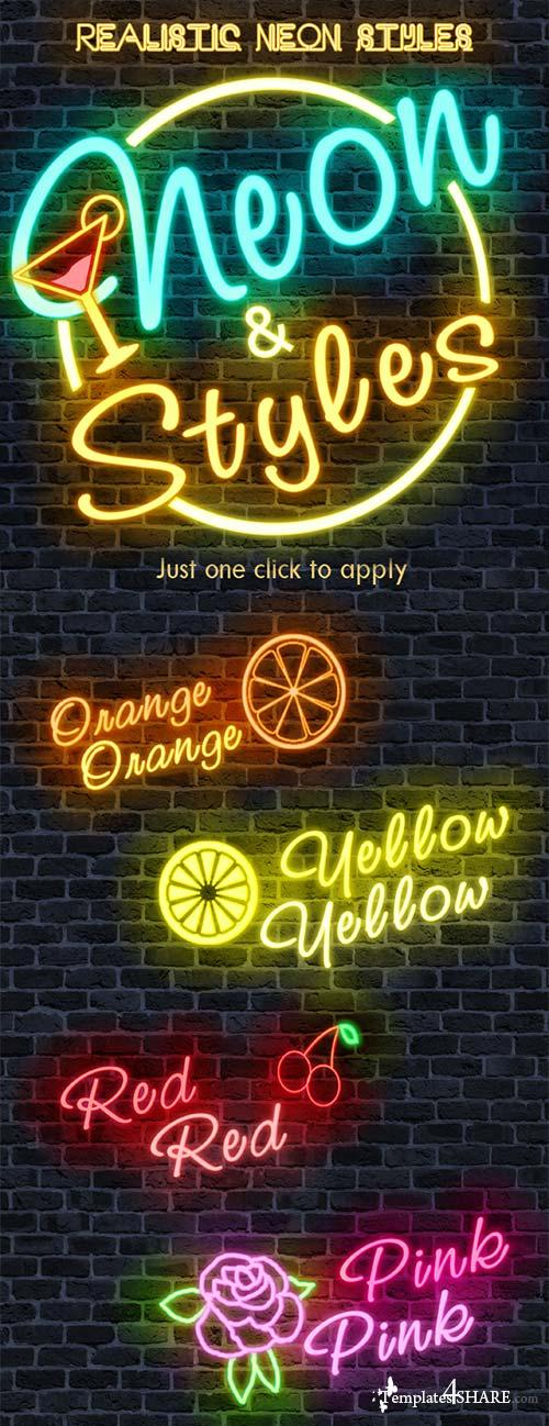 GraphicRiver 50 Realistic Neon Text Styles