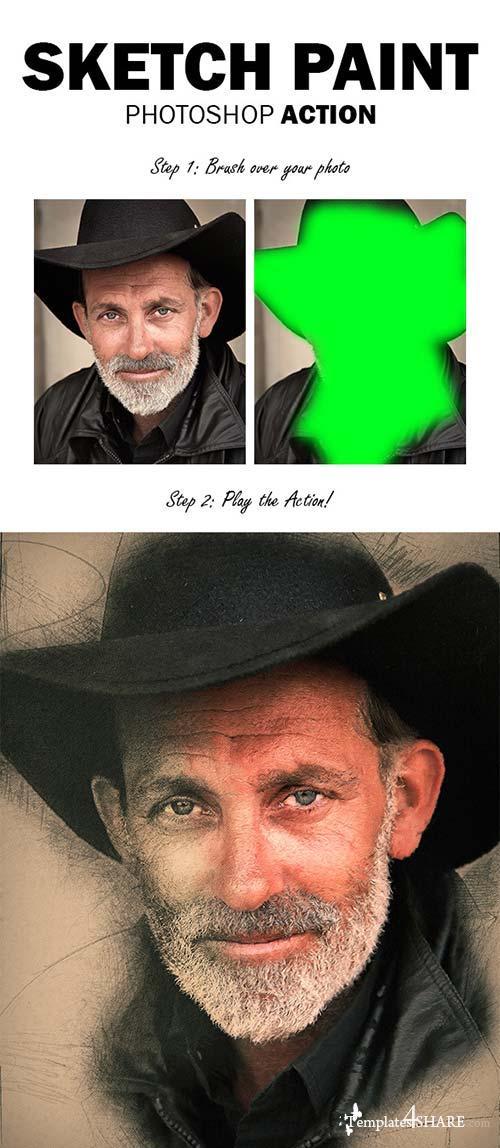 GraphicRiver Sketch Paint Photoshop Action