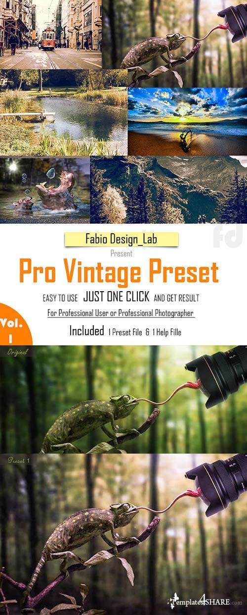 GraphicRiver Pro Vintage Preset