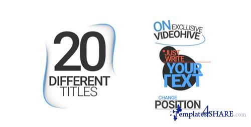 20 Different Titles - After Effects Project (Videohive)