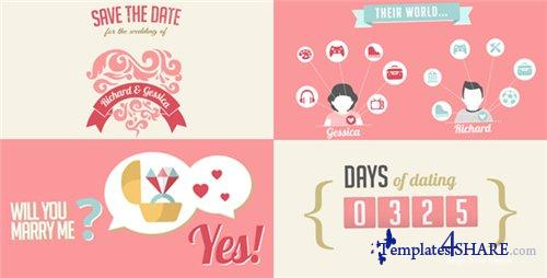The Two Of Us Love Story Timeline & Save The Date - After Effects Project (Videohive)
