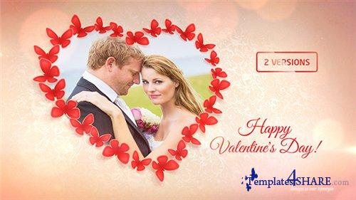 Sweet Butterflies: Valentine's Day Card - After Effects Project (Videohive)