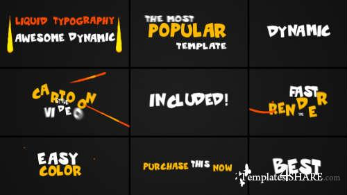 Dynamic Liquid Typography - After Effects Project (Videohive)