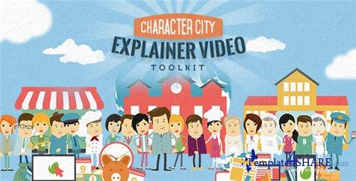 Mega Explainer toolkit: Character city - After Effects Project (Videohive)