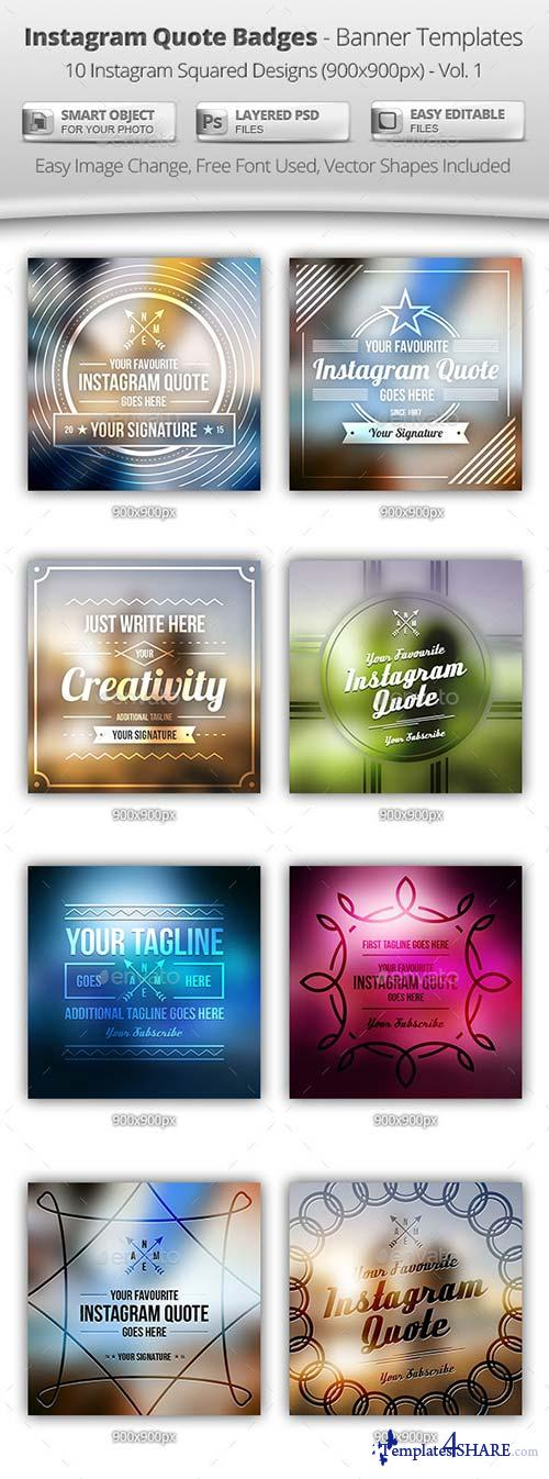 GraphicRiver 10 Instagram Quote Badges - Banner Templates