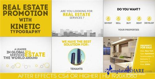Real Estate Promotion With Kinetic Typography - After Effects Project (Videohive)