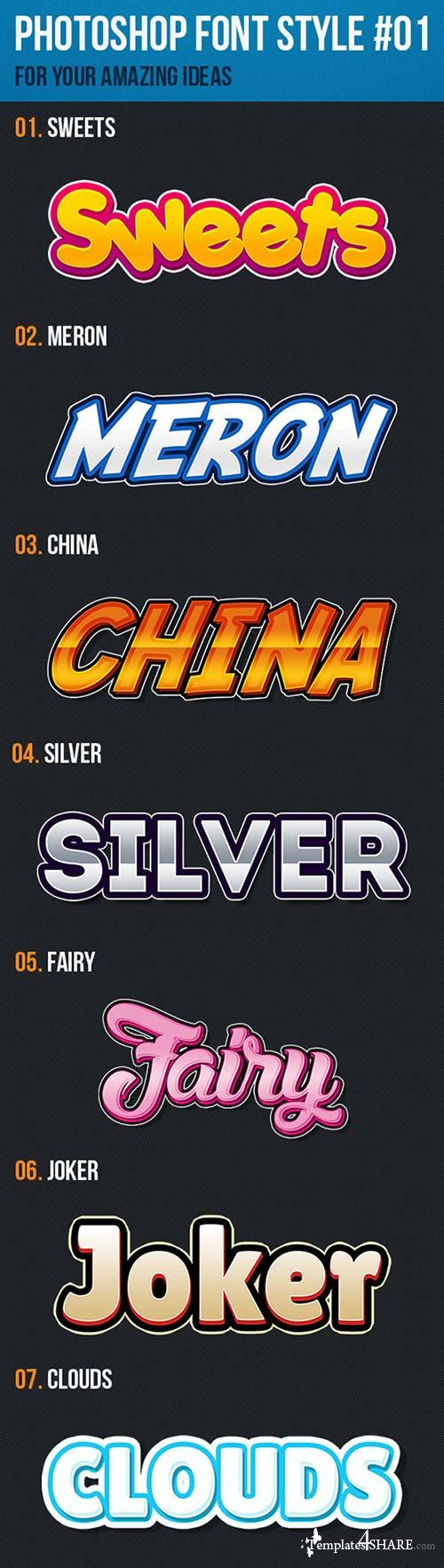 GraphicRiver 10 Font Style for Game Logo #01