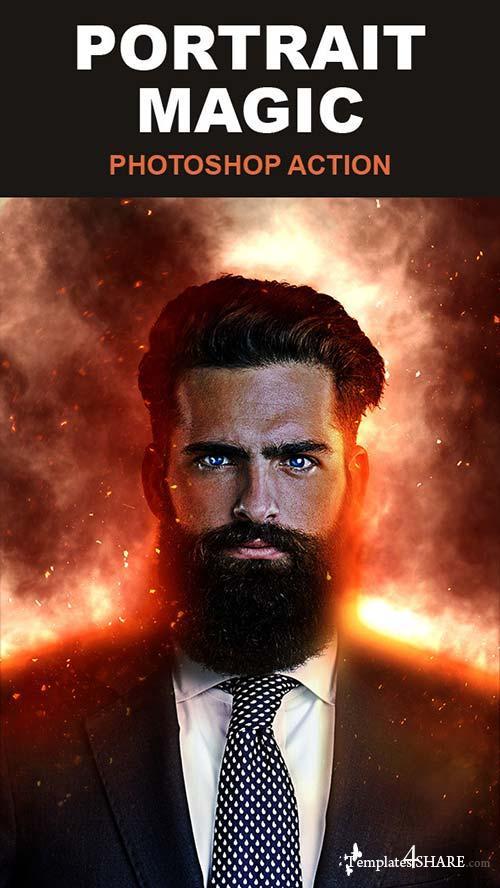 GraphicRiver Portrait Magic Photoshop Action