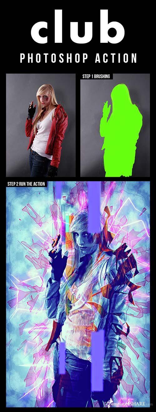GraphicRiver Club Photoshop Action