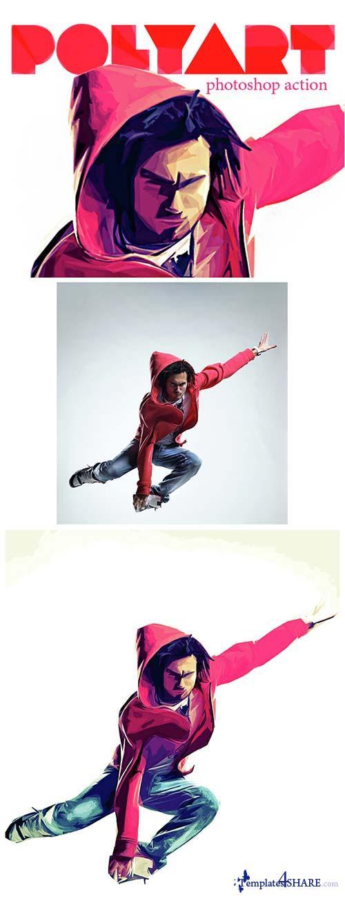 GraphicRiver Polyart Photoshop Action