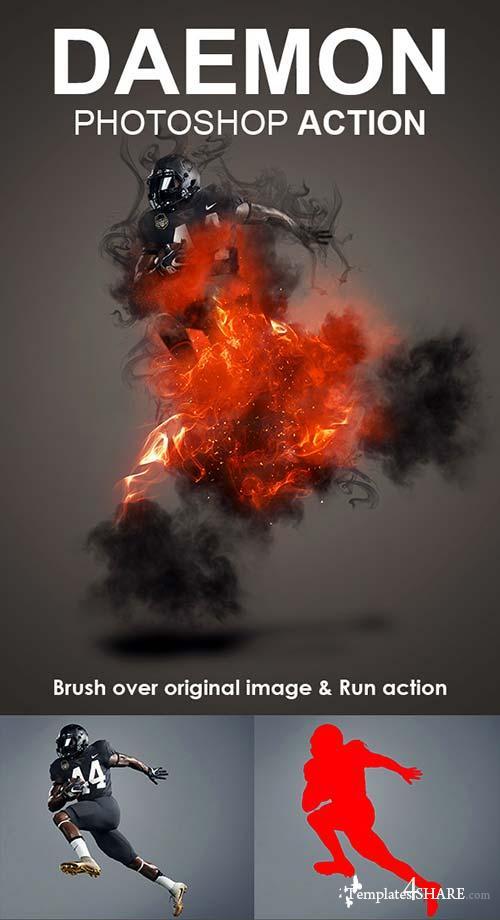 GraphicRiver Daemon Photoshop Action