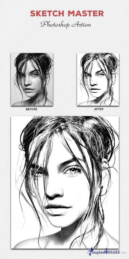 GraphicRiver Sketch Master - Photoshop Action #03